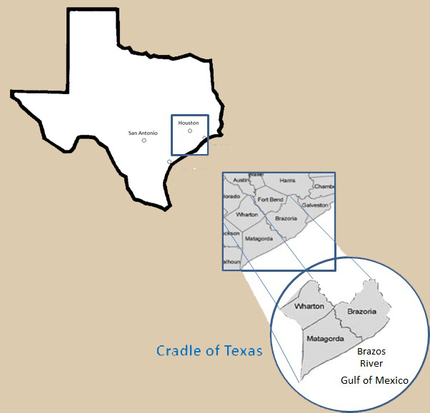 Cradle of Texas Map